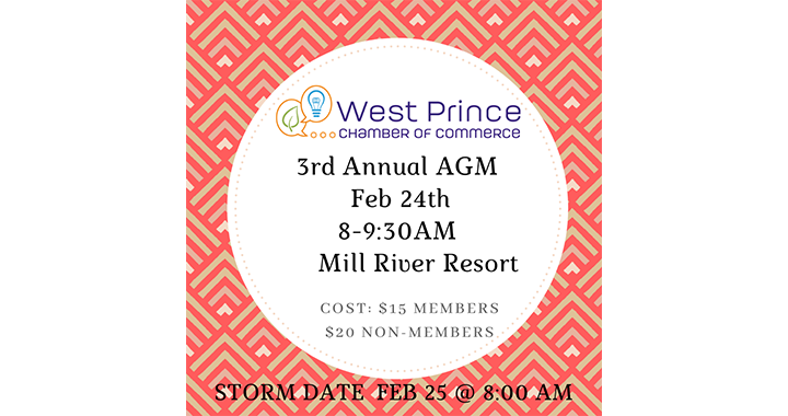 West Prince Chamber of Commerce Annual General Meeting @ Mill River Resort